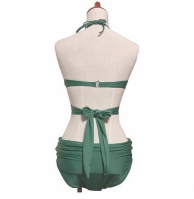 (Mサイズ) クロスデザイン バックリボン ビキニ  水着 < 女性ファッションの