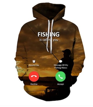 釣りが私を呼んでいる!速乾!防寒!パーカーMサイズ新品