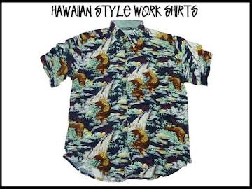 新品 アロハ・ハワイアンスタイル S/S半袖シャツ (2XL)#216