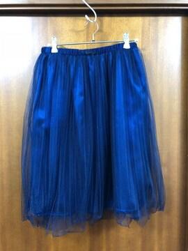 AGbyアクアガール☆ネイビーチュールスカート