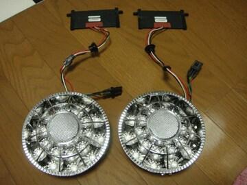 美品 SONAR バルカン風 LED アルテッツァ ダブル レッド T20 加工用 直径13cm