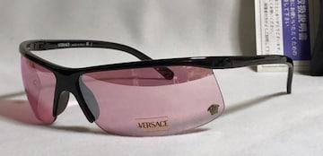 正規新古 VERSACEヴェルサーチ メデューサ スポーティーサングラス 黒×ピンク 付属有
