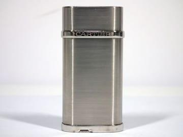 正規カルティエライターオーバルCA120116ロゴ入りシルバー