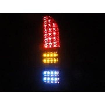 爆連フルLEDテールライト/ランプ ハイエース200系 赤メッキ