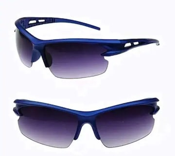 新作★スポーツ サングラス★超軽量 UV400 紫外線カット ブルー