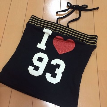 新品◆ホルターリボン付ベアトップキャミ◆150ダンス